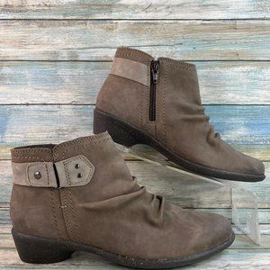 Rockport Nicole Taupe Leather Ankle Boots